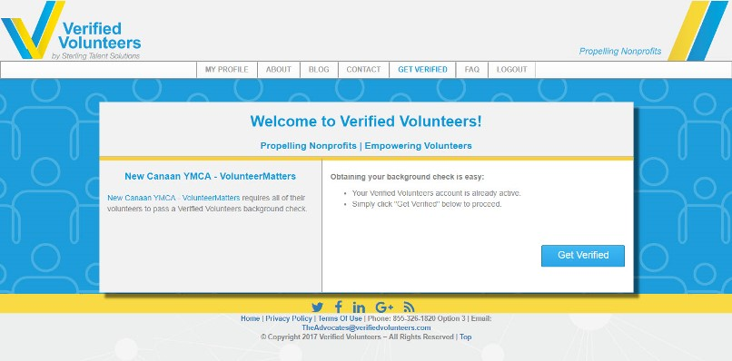 Integrated Background Check User Experience Verified Volunteers